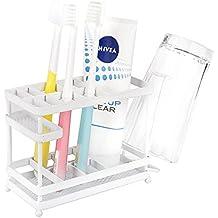 Vanra Metal soporte para cepillos de dientes soporte organizador de almacenamiento de baño Pasta de dientes
