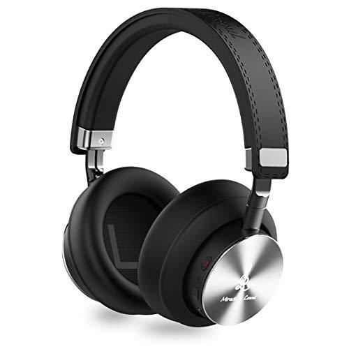 Miracle&lesoul A7 Kopfhörer Bluetooth Kabellos Over Ear, Bloothooth Kopfhoerer, Faltbares HiFi Stereo Funk Kabellose Kopfhörer mit Mikrofon 3.5mm Audiokabel, 25 Stunden Spielzeit, 40mm Treibern thumbnail