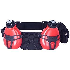 FuelBelt Trinkgürtel mit 2 Flaschen Helium H2O Black/Red