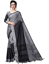 b62ebf372b1358 Perfectblue Women s Linen Saree With Blouse Piece (Bhavik9aLinenVariation)