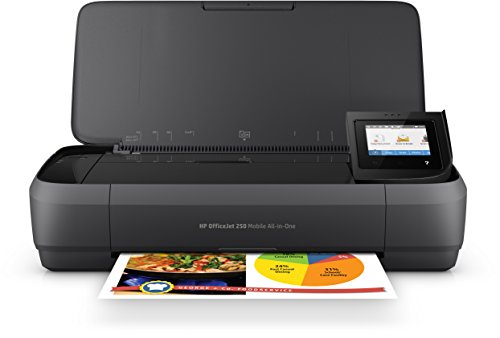 HP Officejet 250 mobiler Multifunktionsdrucker (Drucker Scanner, Kopierer, WLAN, HP ePrint, Wifi Direct, USB, 4800 x 1200 dpi) schwarz (Office-notebook Mobile)