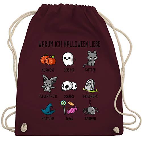 h Halloween liebe - Unisize - Bordeauxrot - WM110 - Turnbeutel & Gym Bag ()