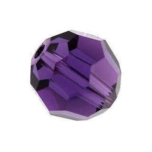 Charming Beads Strang 70+ Violett Tschechische Kristall 6mm Facet Rund Perlen GC9896-2 (Runde Kristall-perlen)