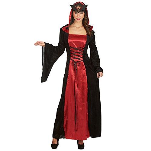 Elbenwald Regina della Notte - Costume da Donna per Travestimento - Vestito  con Allacciatura Incrociata Anteriore cb6f9c6b888