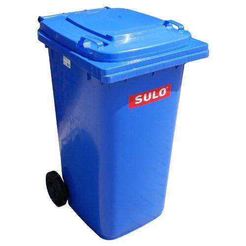 Müllbehälter, Inhalt 80 Liter, blau (Blau Hoch Mülltonne)