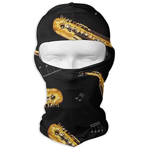 Wfispiy Saxophone and Music Balaclava Clouds Full Face Masks Ski Headcover Motorcycle Fashion Mask Unisex - Pony Plaid Hut