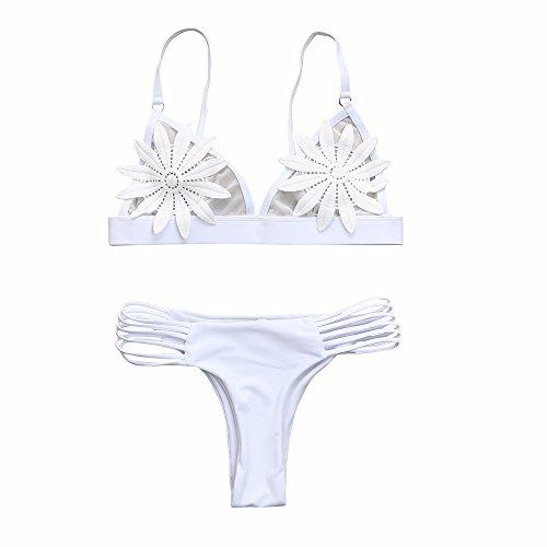 NIUQY La Moda Individuación Sujetador Push-up para Mujer Sujetador con Relleno Floral Bikini Conjunto Traje de baño Traje de baño Baño Regalo Venta de liquidación