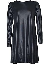 Neue Frauen Plus Size Long Sleeve Swing-Kleid 44-54