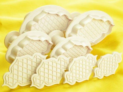 Pati-Versand 11303 Ausstecherset Britisch Design für Marzipan- und Zuckerdekore (Möbel Britische)