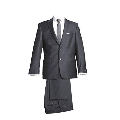 Preisvergleich Produktbild atelier torino Business Anzug Sakko Prestige mit Seitenschlitzen Hose Rex ohne Bundfalte Dunkelgrau Uni Normale Passform Classic Fit 100% Schurwolle, 330g 106