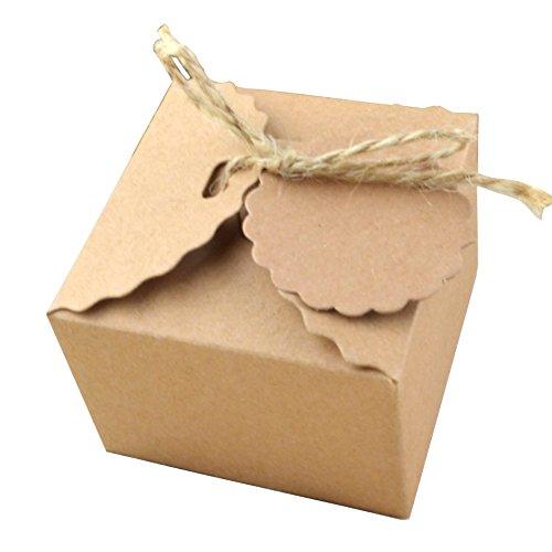 50 Piezas Papel Kraft Caja Regalo Dulces Regalos Cajas