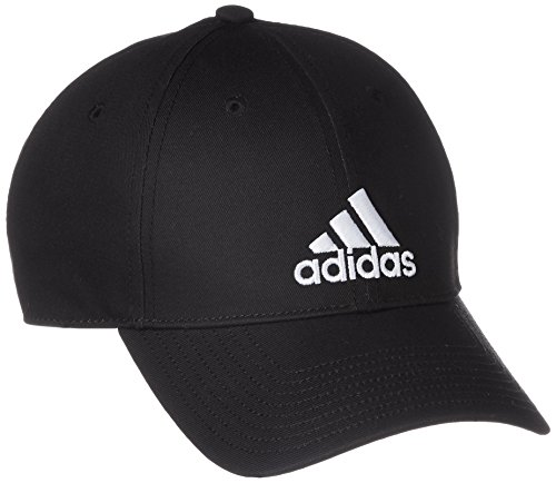 adidas 6P Cap Cotton Hat, Black/White, OSFL