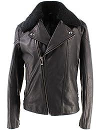 Chaquetas Hombres BELSTAFF 71020560 Wingrave Blouson Man Black Cuero Nueva New