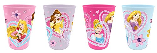 Disney Princess Trinkbecher Saftbecher Becher 4er Set