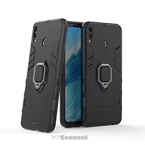 Cocomii Black Panther Armor Huawei Honor 8X/Honor View 10 Lite Hülle NEU [Strapazierfähig] Ring Ständer [Funktioniert Mit Magnetischer Autohalterung] Case Schutzhülle for Huawei Honor 8X (B.Jet Black)