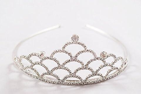 Diamante Gem Silver Crystal Tiara Bridesmaid Flower Girl Holy Communion Wedding