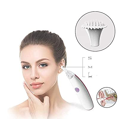 Electronic Ear Cleaner with Three Different Sizes' Silicon Spiral Cleaning Tips, Ear Wax Removal & Great Ear Massage Tool