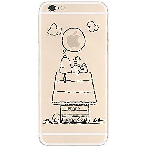 iPhone Cover di licaso® per il Apple iPhone 5 & 5S di TPU Silicone Snoopy Sogna Modello molto sottile protegge il tuo iPhone 5 & con stile Cover e Bumper (iPhone 5 5S SE, Snoopy sogna)