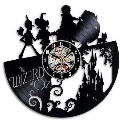 MXHSX Der Zauberer von Oz Vinyl Record Wanduhr, 12 Zoll Kreative Uhr Retro Hauptdekoration Stumm (Der Zauberer Von Oz Hat)