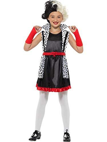 Halloweenia - Mädchen Kinder böse kleine Dame, Evil Little Madame Kostüm, Kleid mit angebrachter Jacke und Handschuhe, perfekt für Halloween Karneval und Fasching, 104-116, Schwarz