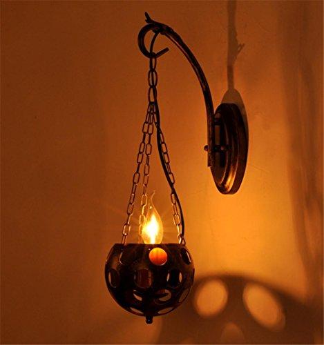 Bronze Marokkanische Wandleuchte (Atmko®Wandlampe Wandleuchte Wand-Lampe Sconce Ländliche Vintage Retro mit Kerze Lamp Cup Single Kopf Eisen Wandleuchte für Haus Hotel Korridor Dekorieren Fixtures)