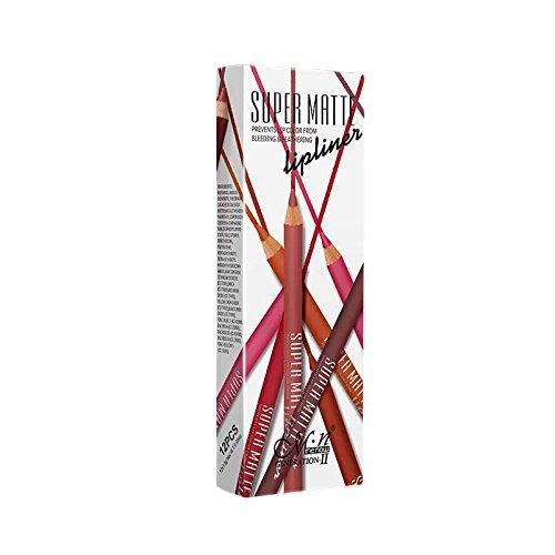 LUFA Menow 12 couleurs imperméable Lipliner Eyeliner Long Lasting Matte Ombre à paupières Pen Crayon à lèvres Maquillage Cosmétiques Set