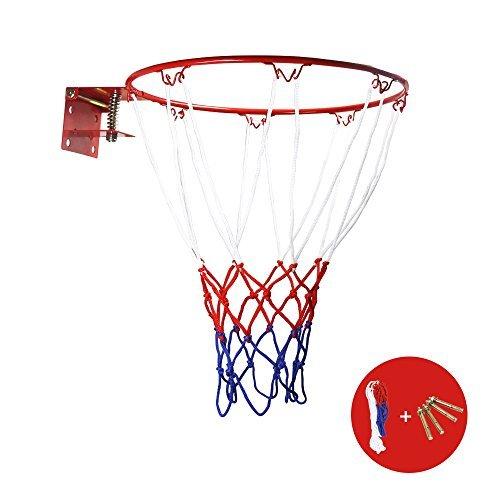 ZUINIUBI Basketball Rand und Net tragbar klappbar Wand montiert zum Aufhängen Baketball Ziel Hoop Spielzeug für Kinder innen und Außenbereich Sport 32cm 32cm rot - Mini-hoop-ersatz-net