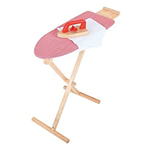 Bigjigs Toys Pretend Play Iron and Ironing Board Set