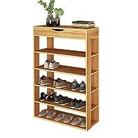 soges Shoe Racks Solid Wooden Shoes Storage Shelf Shoes Organizer Hold Standing L24-N