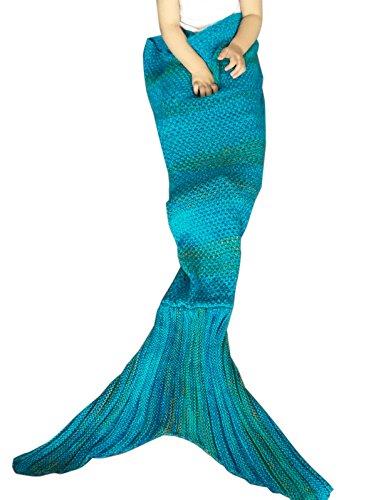 YiZYiF Mermaid Meerjungfrau Schwanz gestrickten Decke Fleecedecke Schlafsack für (Up Meerjungfrau Dress Kostüm)