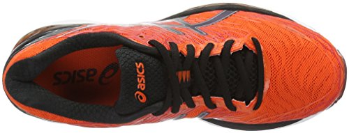 Asics Herren Gel-Nimbus 18 Laufschuhe Orange (Flame Orange/Black/Silver)