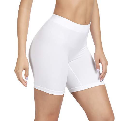SIHOHAN Damen Unterhosen, Lange Frauen Panties, hohe Taille und Bequem, 1er Pack (weiß,XL)