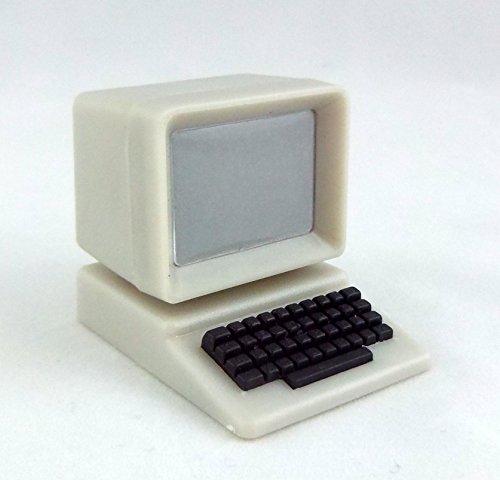Preisvergleich Produktbild Puppenhaus 1:12 Skala-miniatur-büro Teen Schlafzimmer Zubehör PC Computer