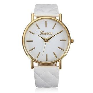 Franterd-Damen-Armbanduhr-Elegant-Uhr-Modisch-Zeitloses-Design-Klassisch-Leder-Rmische-Ziffern-Leder-analoge-Quarzuhr-Armbanduhr-Wei