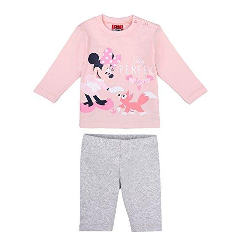 Disney ragazze minnie mouse set, maglietta, leggings, rosa, taglia 74, 9 mesi