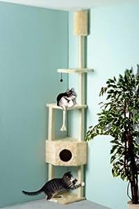 Cat Dream Kratzbaum, Sisalstamm, Katzen-Kratzstamm, Eck-Kratzstamm, in beige, Höhe: ca. 230-260 cm