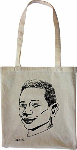 Mister Merchandise Bag Julian Draxler Borsa Di Stoffa, Colore: Nero Natura