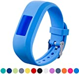 Garmin Vivofit Jr Replacement Ifeeker Soft Silicone Metal Belt Buckle Clasp Watch Band Bracelet Holder Bag Case for Garmin Vivofit Jr. Motivator and Activity Tracker Junior Kids Fitness