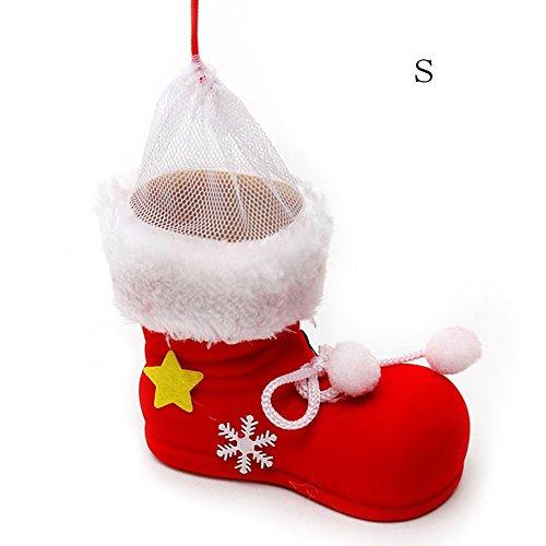 Dekorative Schuh-speicher (haodou Weihnachten Party Taschen Cute Candy Kekse Geschenk Fall Schuhe Form Tasche Dekorative Aufbewahrung Handtasche für Kinder rot 1Stück Größe S rot)
