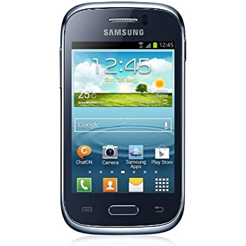 Samsung Galaxy Young S6310N Smartphone (8,1 cm (3,2 Zoll) Touchscreen, Cortex A5, 1GHz, 768MB RAM, 4GB interner Speicher, 3,2 Megapixel Kamera, Android 4.1) tiefblau