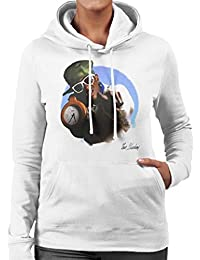 Don't Talk To Me About Heroes Tom Sheehan Official Photography - Flavour Flav Public Enemy White With Timepiece Women's Hooded Sweatshirt