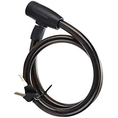 Antibloqueo seguro para bicicletas con seguro en espiral con 2 llaves