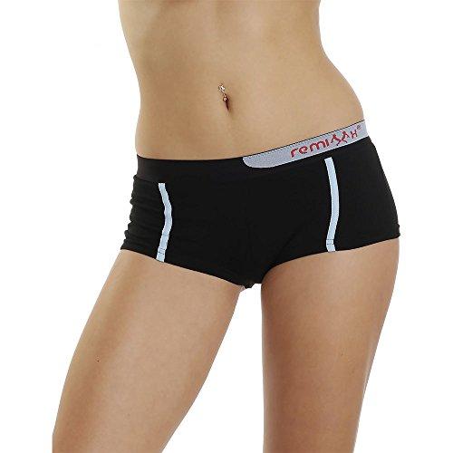 Remixx 4er Pack sportliche Pantys Stretch Baumwolle Mehrfarbig