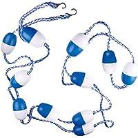 PETSOLA Kit de Línea de Flotador Y Línea Divisoria de Seguridad para Piscina de 16 Pies con 2 Ganchos Premontados
