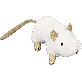 Nobby Souris en Peluche pour Chat Blanc 10 cm