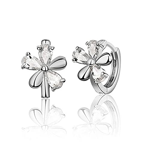 Qualités de cristal fleur de bague d'oreille simple/ fashion earrings/ bijoux en argent/ boucles d'oreilles-B