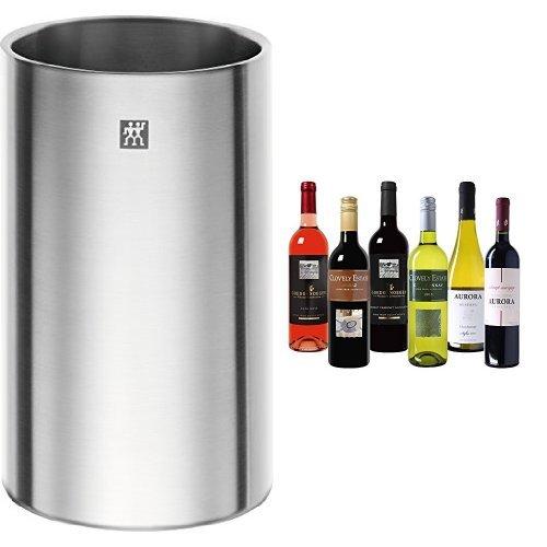 Zwilling Weinkühler inkl. Wein Probierpaket Südhalbkugel Trocken (6 x 0.75 l)