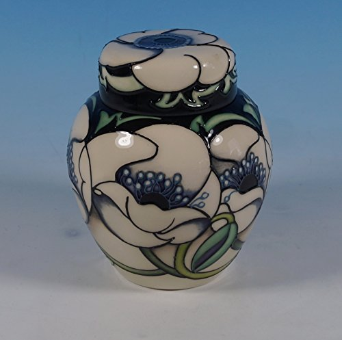 Moorcroft Locked Room 769/4 Ginger Jar New Foundations Rachel Bishop White Poppy