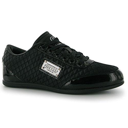 Firetrap Kinder Jungen Dr Domello Turnschuhe Sport Schuhe Freizeit Sneaker Schwarz 6 (39)