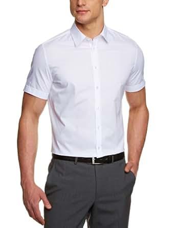 Seidensticker Herren Businesshemd 570291, Gr. 37, Weiß (01 weiß)